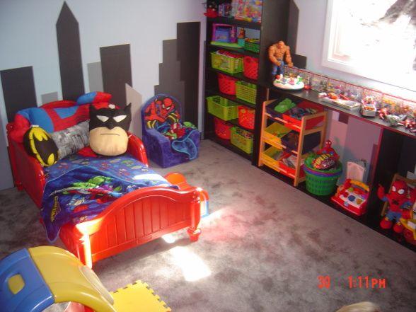Easy Superhero Skyline Superhero Room Toddler Boys Room Toddler Rooms
