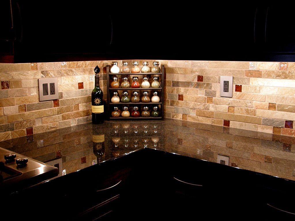 backsplash ideas for ubatuba countertop | via Modern Kitchen Design ...