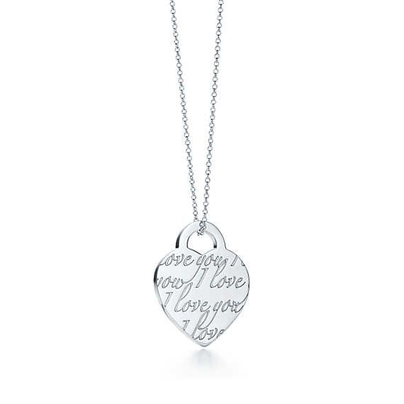 62ad75a6f Tiffany Notes<br>I Love You pendant... love this necklace! | Just ...