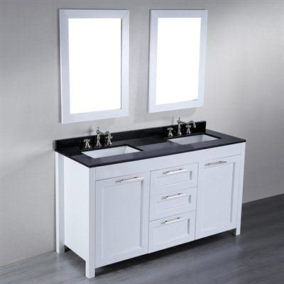 Sb 267 60 In Contemporary Double Sink Bathroom Vanity With Granite