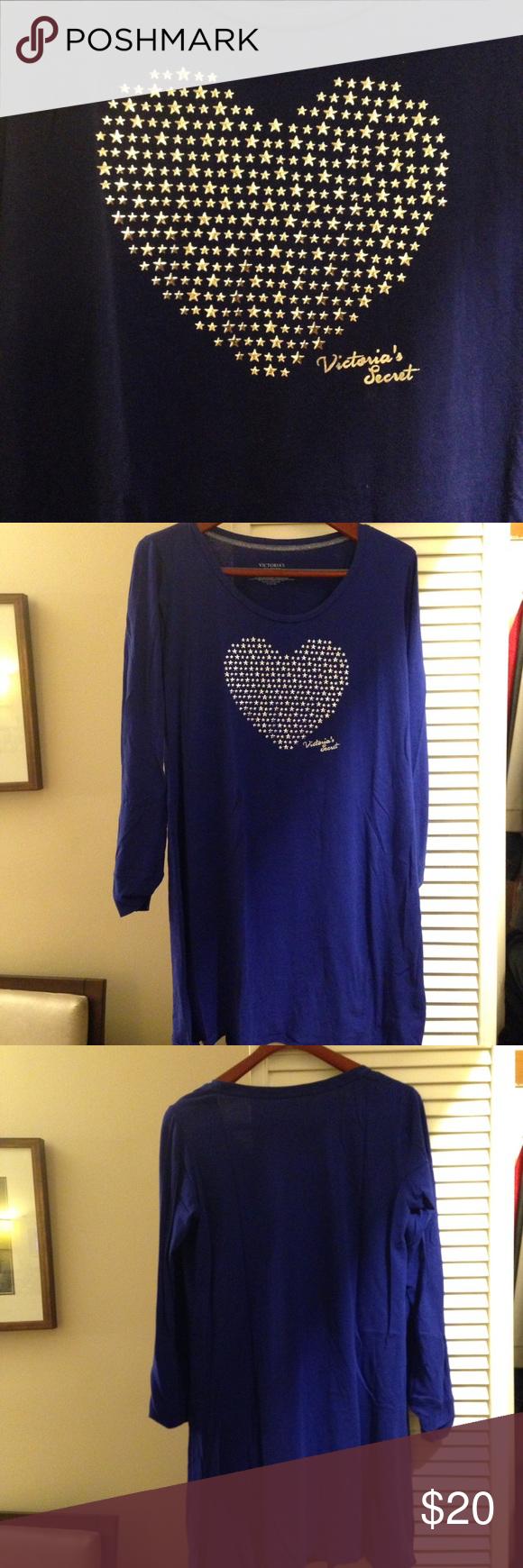 💟 Victoria's Secret sleep shirt 💟 EUC - Extremely soft and comfy! Cotton blend, machine washable. Victoria's Secret Intimates & Sleepwear