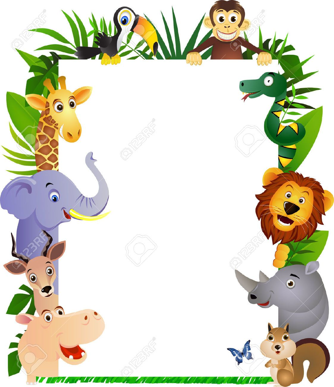 jungle leaves border Google Search Clip art borders