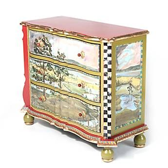 Highland Three Drawer Chest Just Purchased 1 2 Price Sale Can T Waite Till Painting Furniture Diy Funky Painted Furniture Mackenzie Childs Furniture