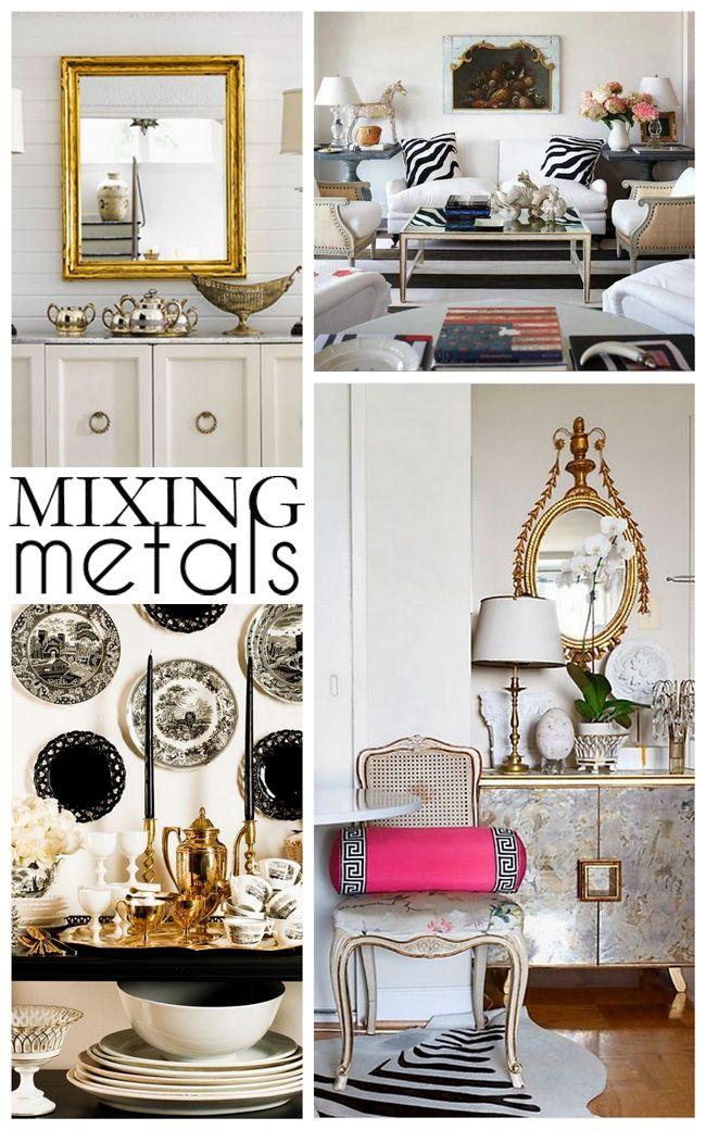 Tips on mixing metals in interiors hunted interior pinterest metals interiors and living for Mixing metals in living room