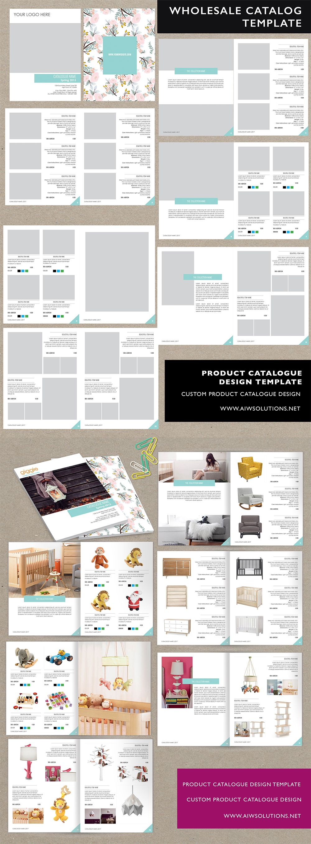 product catalog design templates