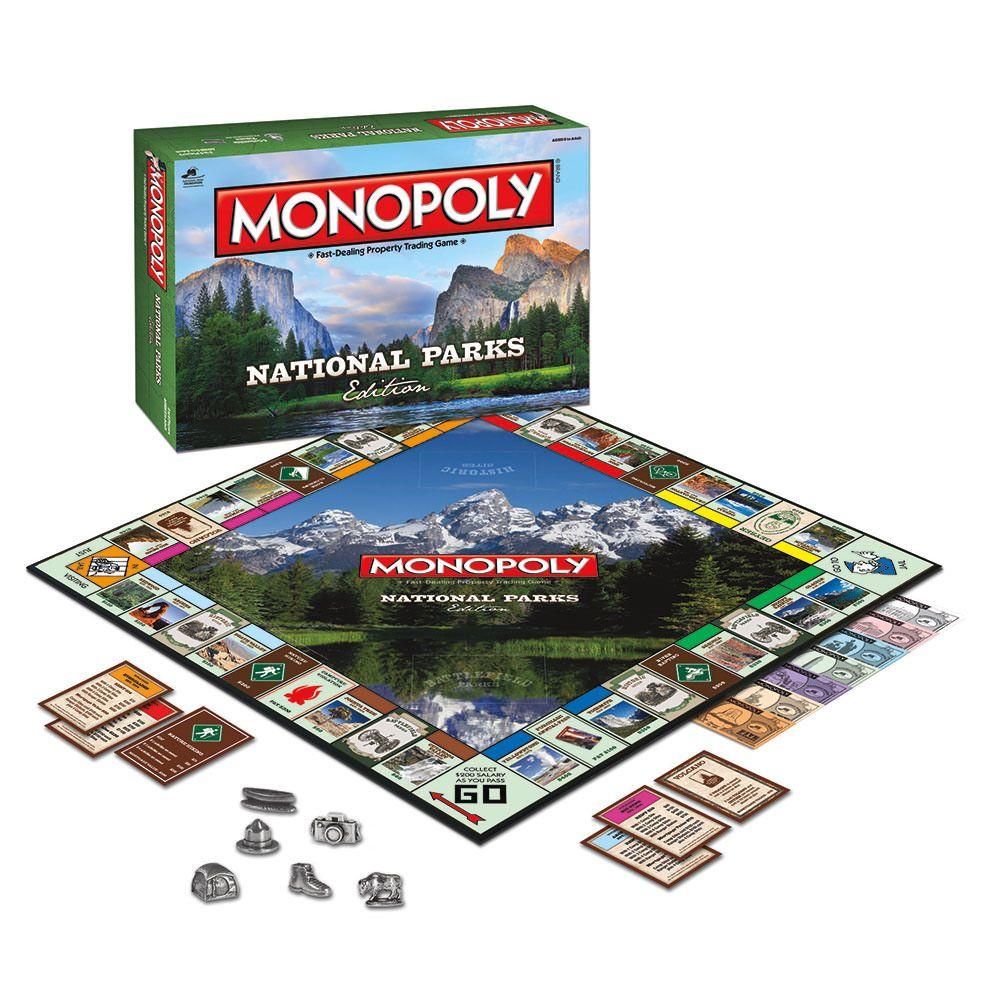 National Parks Monopoly National Parks Monopoly Board Games