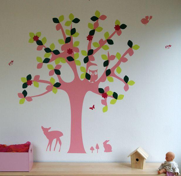 Wandtattoo Baum, Freie Farbwahl Wandtattoo