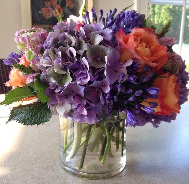 Gorgeous Hydrangeas Roses And Agapanthus From Bridgehampton Florist Flower Arrangements Beautiful Flowers Flowers