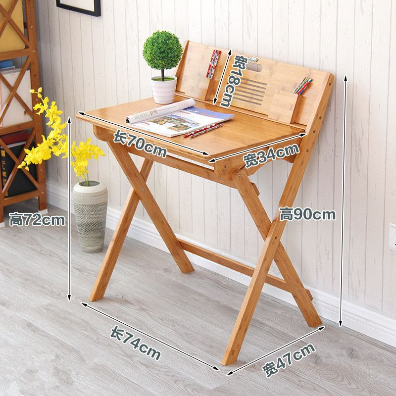 Modern Bamboo Computer Desk Folding Table Furniture Children Study For Kids Foldable Compact Laptop