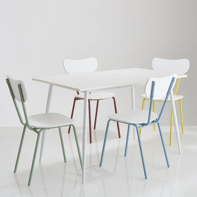 Ensemble table et 4 chaises laurin la redoute shopping - Table et chaise en pin ...