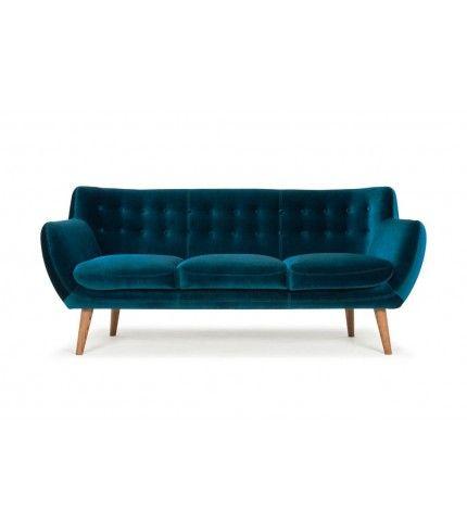 Velour Sofa 3 seater sofa velour petro smoked oak legs amsterdam