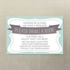 Baby Shower Book Request Baby Shower Invite Print at Home