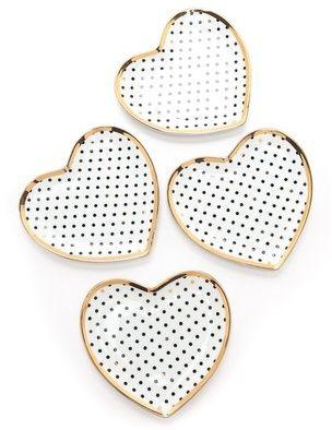 C. Wonder Swiss Dot Heart Shaped Appetizer Plate Set  sc 1 st  Pinterest & C. Wonder Swiss Dot Heart Shaped Appetizer Plate Set | For the Home ...