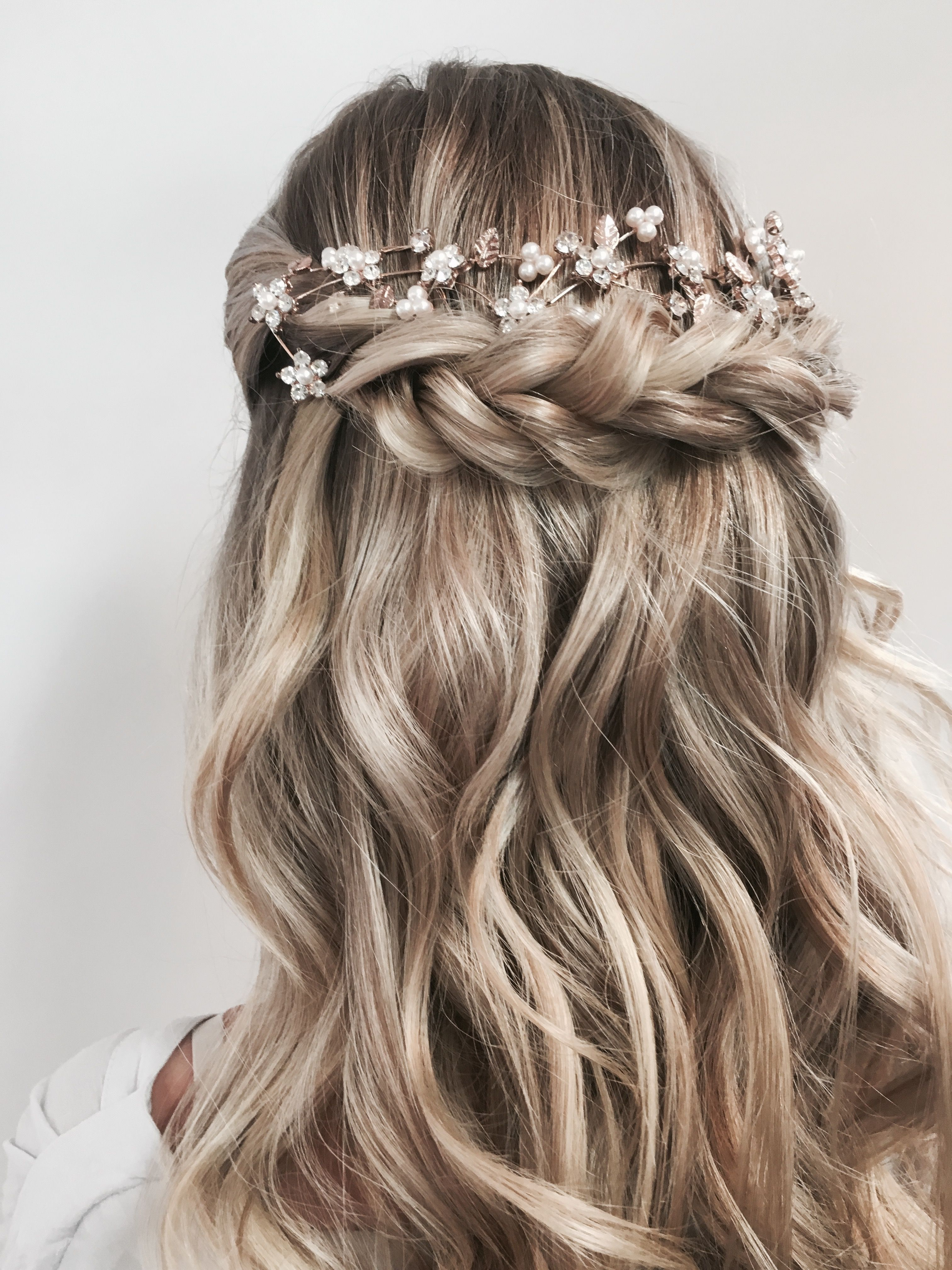 Upstyles Half Up Half Down Www Uptownhair Com Au Longhair Formalhair Upstyle Updo Junior Bridesmaid Hair Curled Hairstyles For Medium Hair Ball Hairstyles