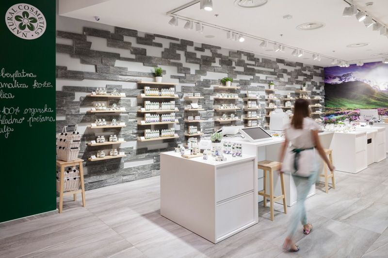 This Store Has A Robot That Will Make Your Custom Cosmetics Retail Design Design Shop Interior Design