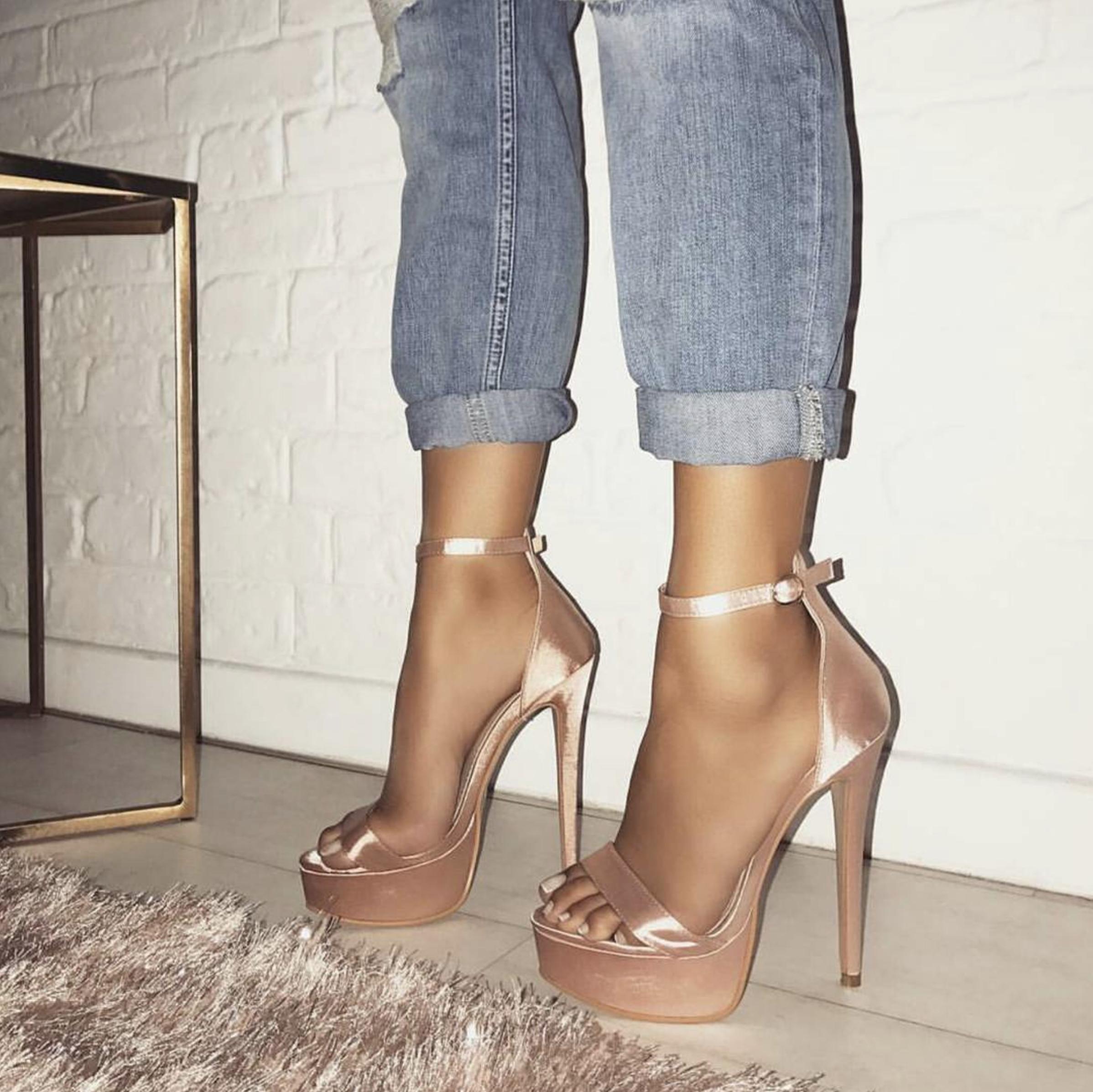 Heels, Pink platform heels, Prom heels