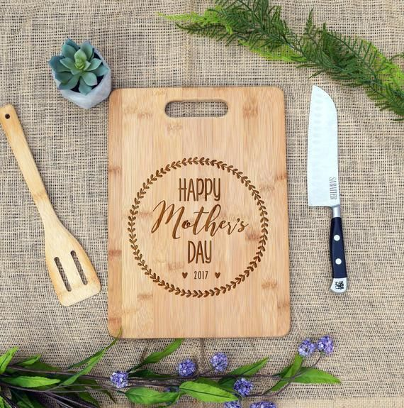 Personalised Chopping Board Childrens Pictures Fathers day Mothers day