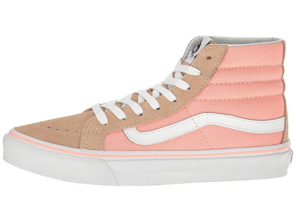 c5f54a6d75 Vans SK8-Hi Slim Skate Shoes Pale Khaki/True White | Products | Vans ...