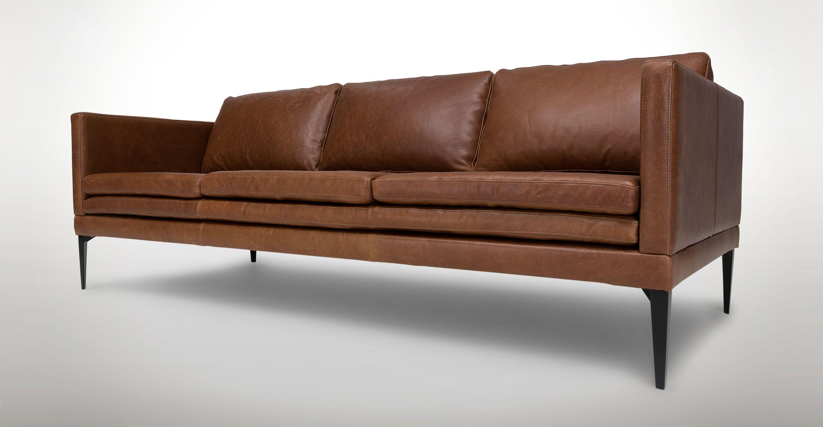 Brown Leather Sofa On Legs Fl Modern Mart Denver Plus Ikea Landskrona