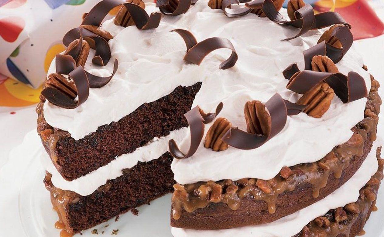Chocolate praline cake recipe at