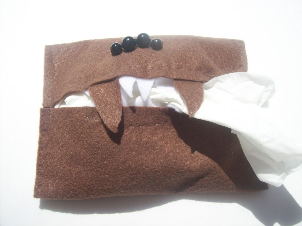 Finally made myself one of these! Monster Book of Monsters tissue holder. Too adorable for words.