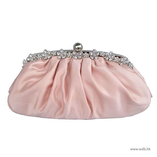 vintage bridesmaid dresses Attractive crystal satin clutch $23.99