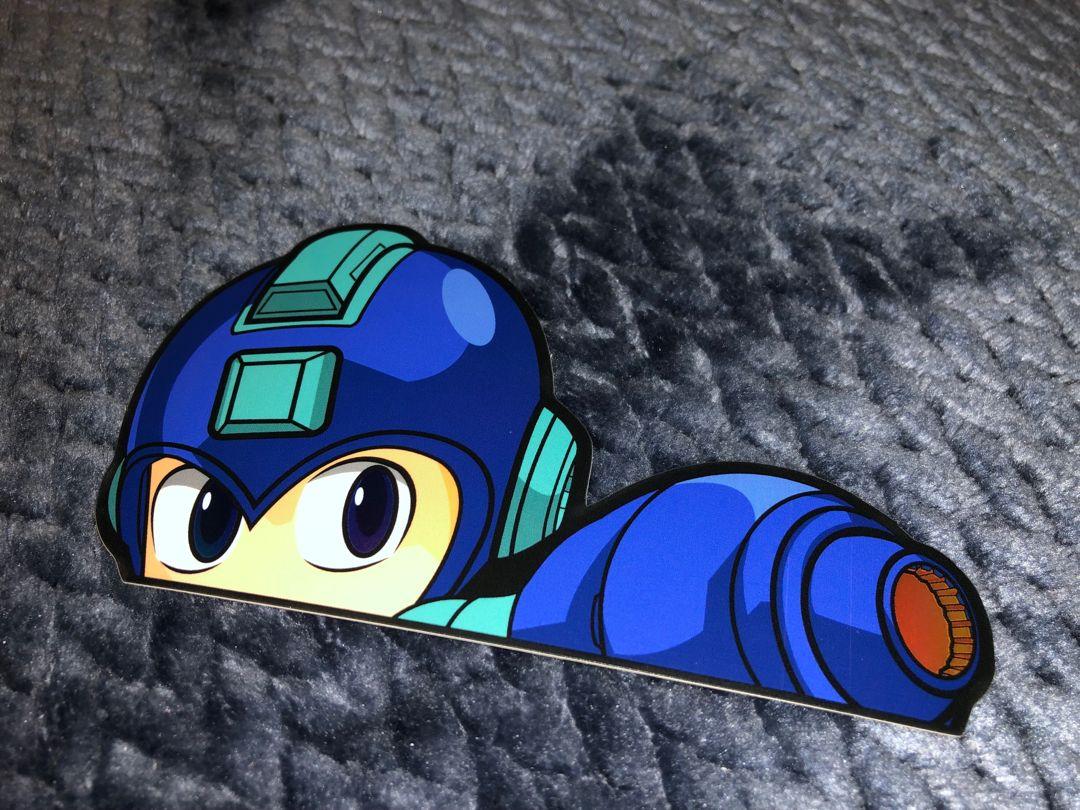Mega man peeker sticker art anime inspired anime