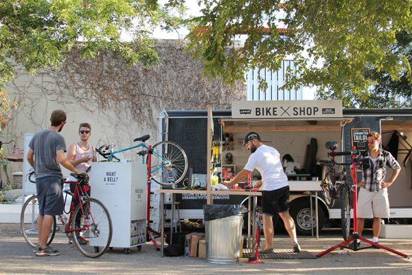 Levi S Hosts One Day Bike Themed Pop Up Shop Bike Shop Pop Up