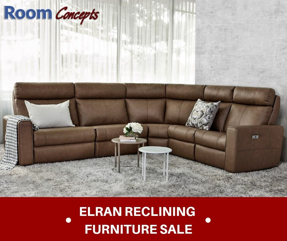 Elran Kendall Sectional Reclining Furniture Furniture Room
