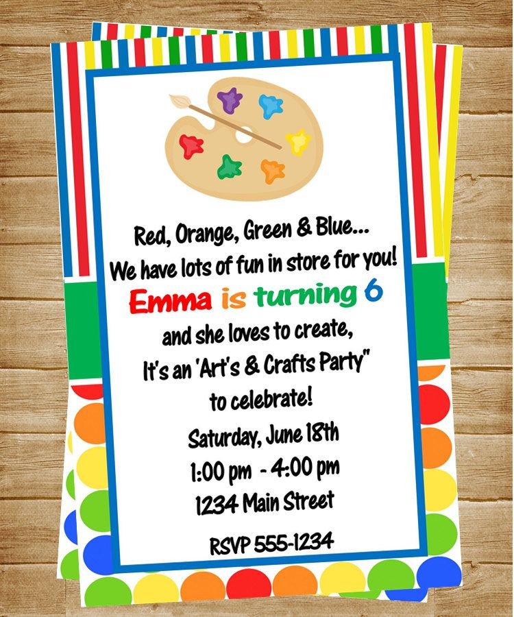 Art party wording for invitation Party Ideas Pinterest Art - fresh birthday invitation of my son