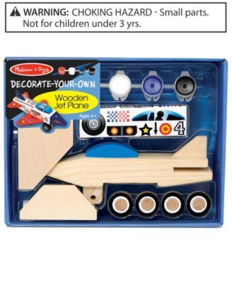 Melissa and Doug Kids Toy, Decorate-Your-Own Wooden Jet Plane
