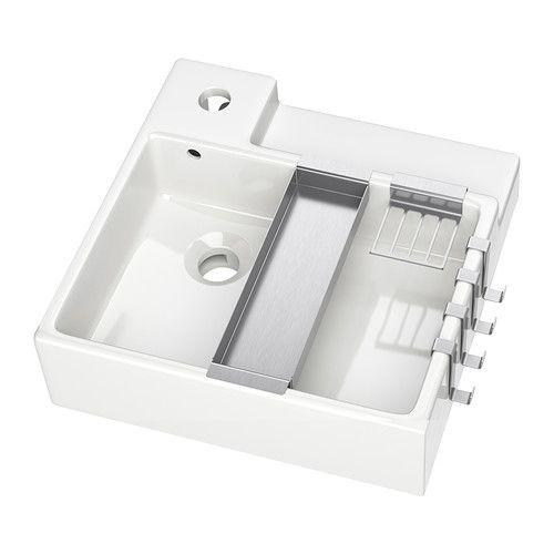 lill ngen lavabo blanc porte savon rebord et lavabo. Black Bedroom Furniture Sets. Home Design Ideas