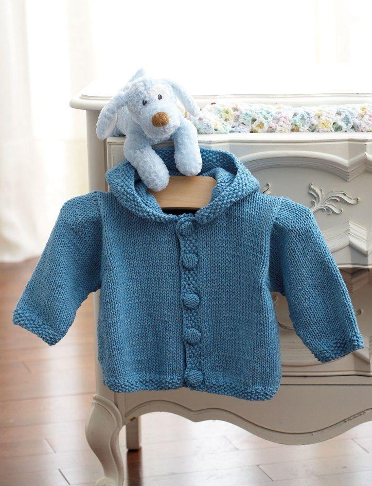 b8c780cbde35 Knit Hoodie in Bernat Handicrafter Cotton Solids Free