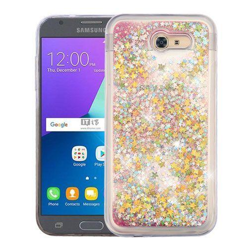 Quicksand Glitter Galaxy J3 Emerge Eclipse Prime Sol 2 Case Stars Pink Samsung J3 Phone Cases Samsung Galaxy J3 Phone Cases Samsung Galaxy