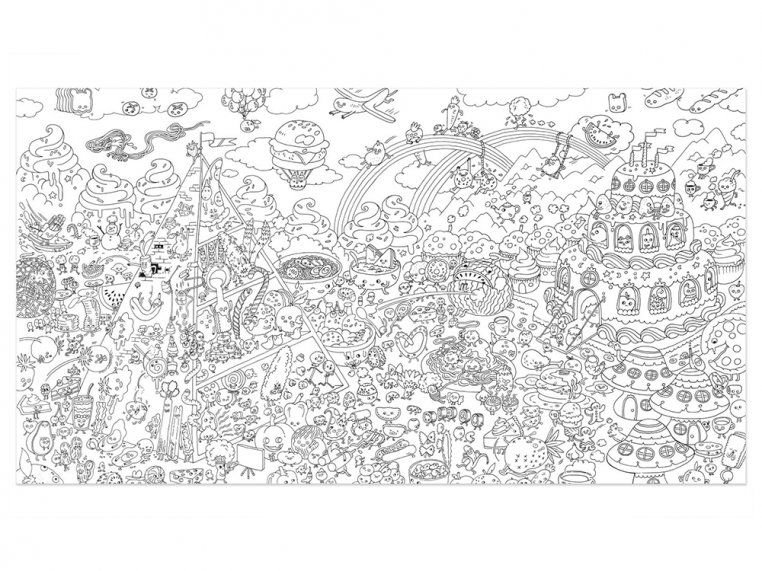 Large Coloring Poster Www.robertdee.org