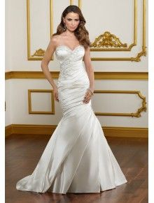 Lustrous Satin Mermaid Sweetheart Wedding Dress ML1822