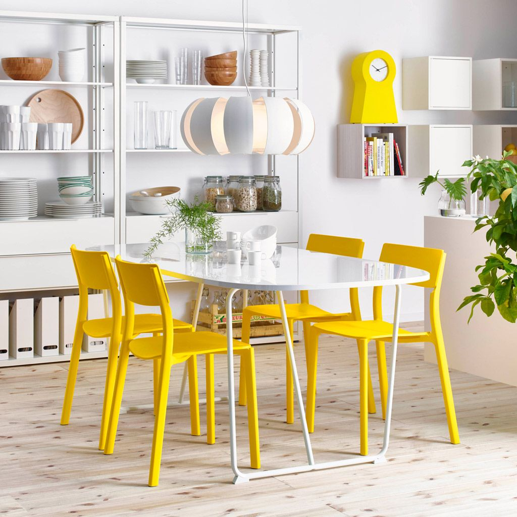 Amusing ikea dining room furniture design with white dining table