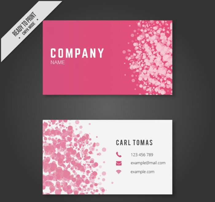25 free pink business card templates