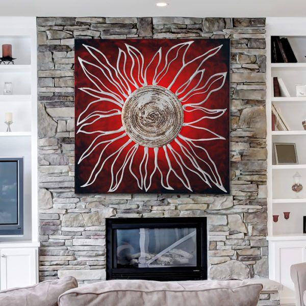 WYYAF Quadro su Tela Pittura Decorazioni per la casa 5 Pezzi Prateria di Mountain Valley Durante Il Tramonto Natura Paesaggi Poster Modulari Immagini per pareti