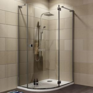 Cooke Lewis Luxuriant Offset Quadrant Shower Enclosure Tray Waste Pack W Quadrant Shower Enclosures Square Shower Enclosures Rectangular Shower Enclosures