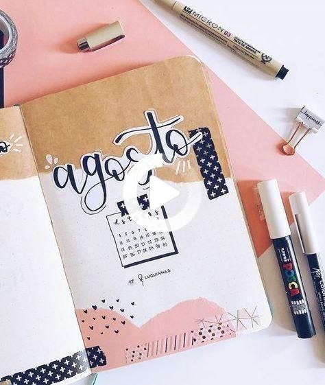 August bullet journal inspiration #bulletjournaloctobre bullet journal by「 n a t y 」 on Instagram.