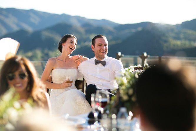 Malibu Rocky Oaks. Wedding photography. Bride. Groom. Wedding photographer. Outdoor reception. Photo by Michael Segal Photography