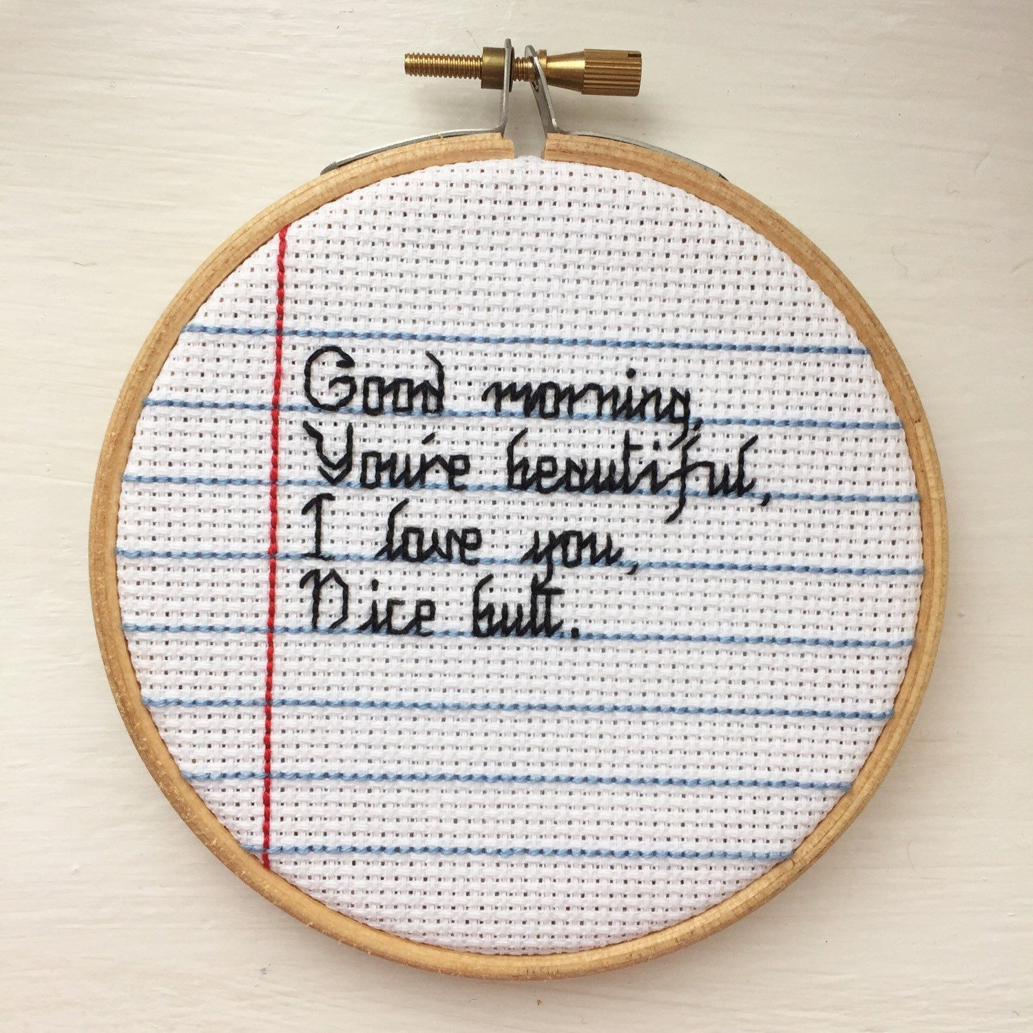 Good morning you re beautiful i love cross stitch