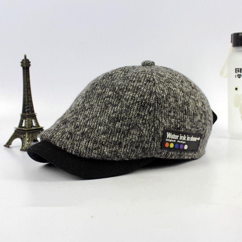 The Autumn Winter Wool BERET Duck Tongue Hat Wholesale New Hats For Men  Ladies Vintage Knitting Wool Baseball Cap c4b19bd26b4