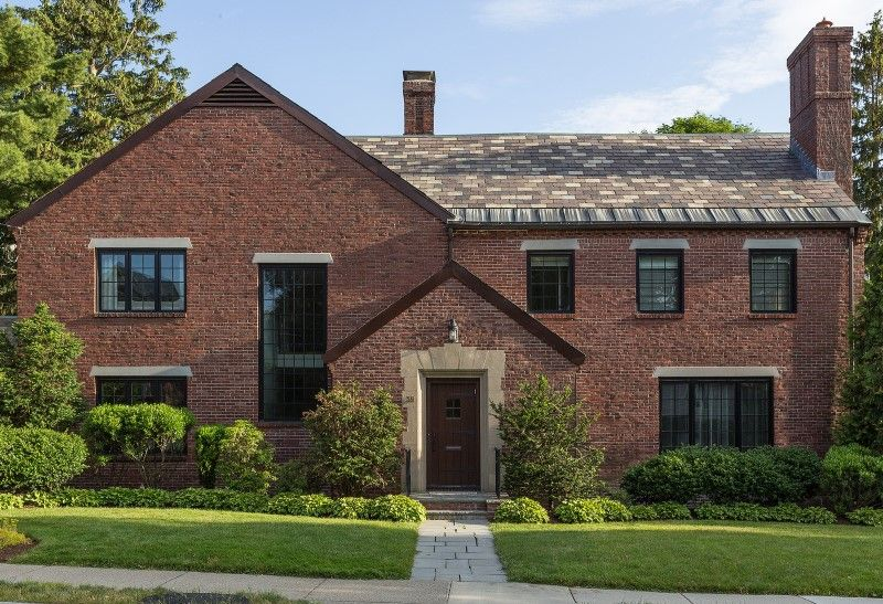 redesign of 1932 tudor style suburban home in newton massachusetts rh pinterest com