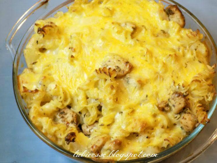 Zapiekanka hawajska - ser, kurczak, ananas, makaron <3