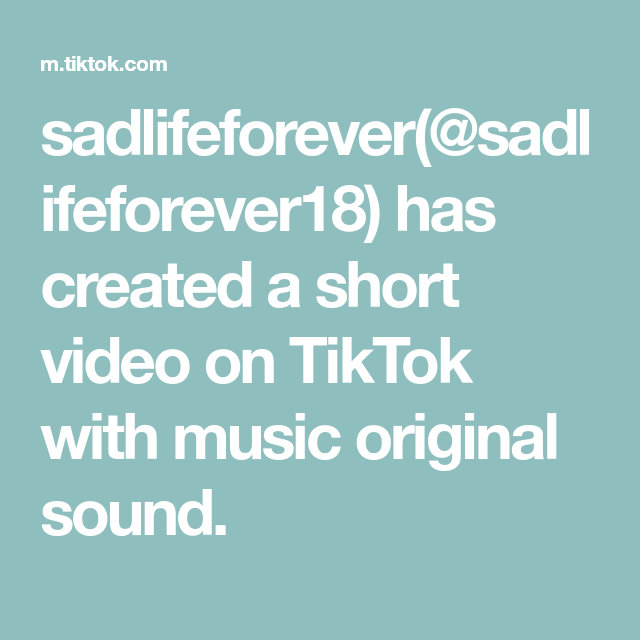 Sadlifeforever Sadlifeforever18 Has Created A Short Video On Tiktok With Music Original Sound The Originals Pankow Funny Short Videos