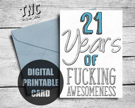 Funny 21st Birthday Card
