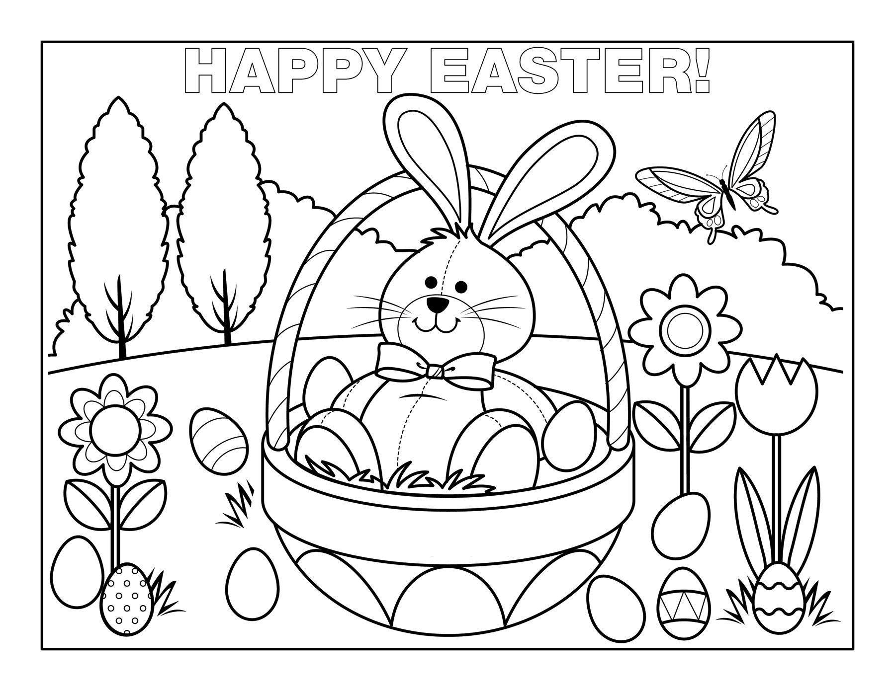 Easter-Egg-Basket-Coloring-Pages (21).jpg (1800×1391) | Coloring ...