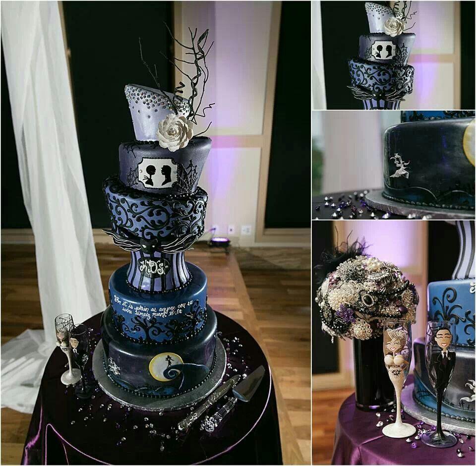 Nightmare before Christmas wedding cake | Wedding Ideas | Pinterest ...